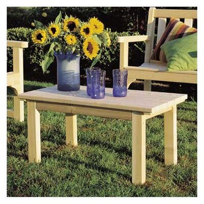 Cedar English Garden Table Finish: Natural