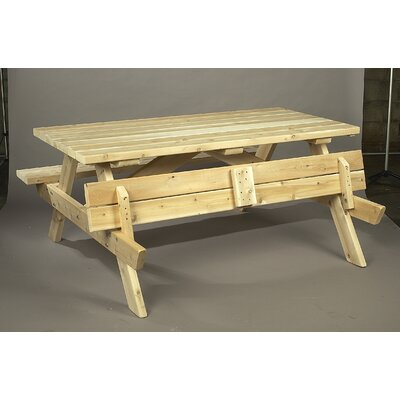 Square Cedar Wood Picnic Table Finish: Natural