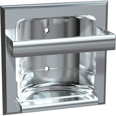 Zamak Recessed Soap Dish Bar: Without, Wall Type: Wet