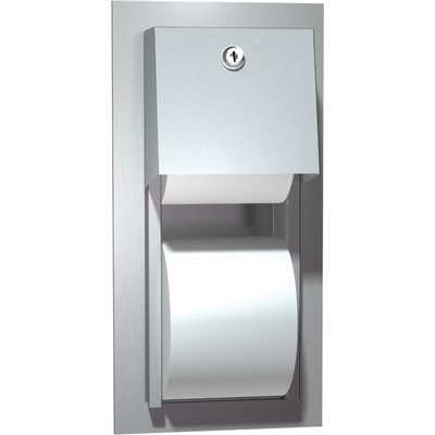 Dual Roll Toilet Paper Dispenser Mounting Type: Recessed