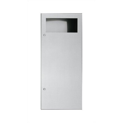 Simplicity Waste Receptacle with 12 gal. Capacity Mounting: Semi-Recessed