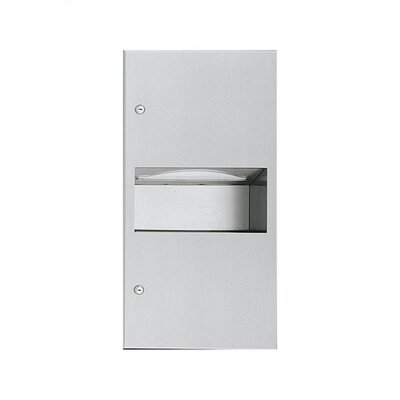 Simplicity Paper Towel Dispenser with 1.8 gal. Waste Receptacle - 350 C-fold or 475 Multi-fold Capacity Mounting: Surface
