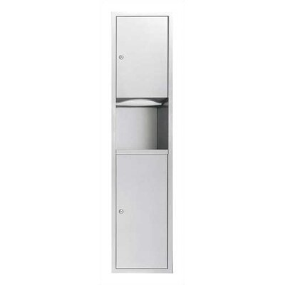 Traditional Paper Towel Dispenser and 6 gal. Waste Receptacle Mounting: Recessed