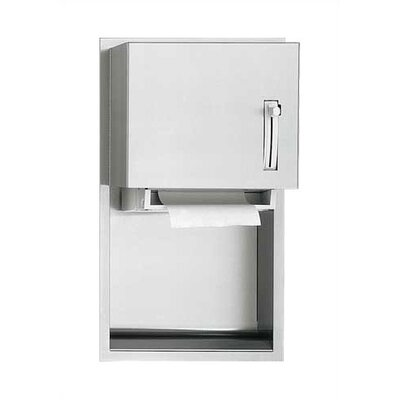 Traditional Recessable Roll Paper Towel Dispenser Mounting: Recessed