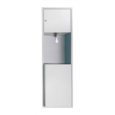 Traditional Pull Core Paper Towel Dispenser and Waste Receptacle Mounting: Surface