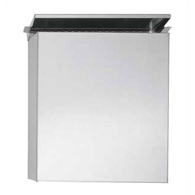 Surface Mounted Sanitary Napkin Disposal with Utility Shelf