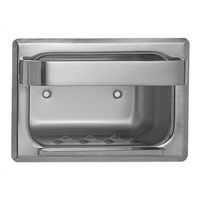 Heavy Duty Recessed Stainless Steel Soap Dish Bar: Without, Wall Type: Wet Wall
