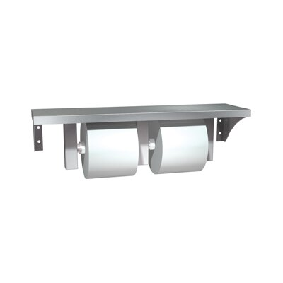 Stainless Steel Shelf and Double Toilet Paper Holder Spindle Type: Standard