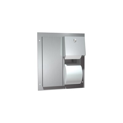 Dual Access Partition Mounted Double Roll Toilet Paper Dispenser