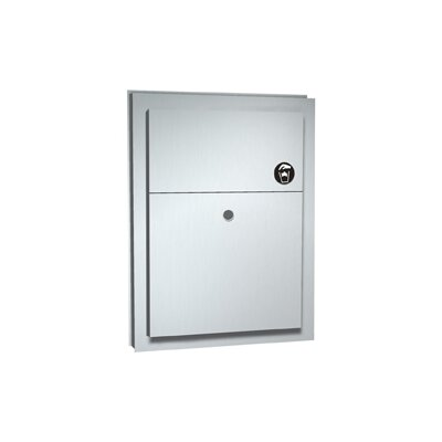 Partition Mounted Dual Access Napkin Disposal Closure: Without Lock 10-0472