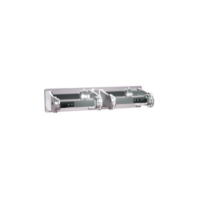 Double Chrome Plated Steel Surface Mounted Toilet Paper Holder