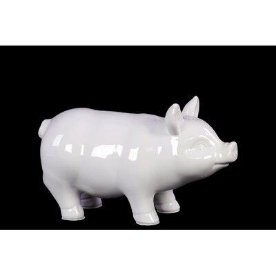 Ceramic Pig SM Gloss White Size: Small 46621