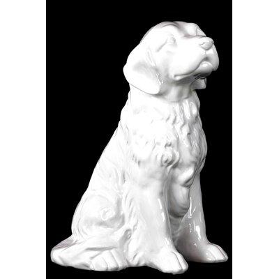 Ceramic Sitting Golden Retriever Dog Figurine 28586