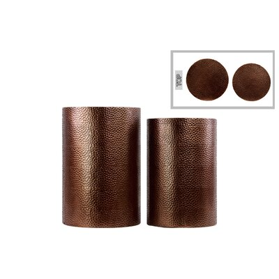 2 Piece Cylindrical End Table Set