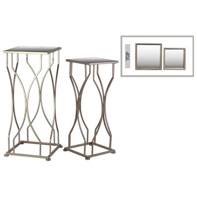 Metal End 2 Piece End Table Set Color: Gold