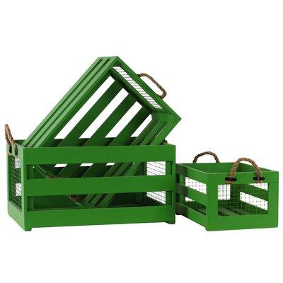 3 Piece Wooden Storage Box Set 25509