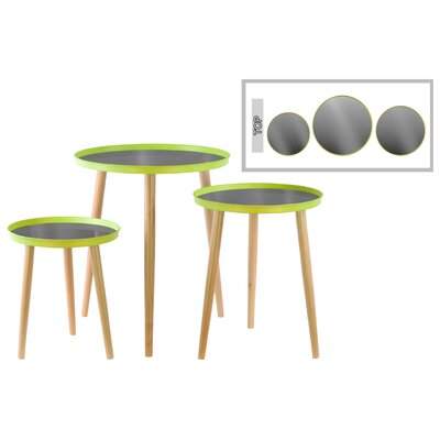 3 Piece End Table Set Color: Yellow