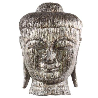 Fiberstone Buddha Head Bust