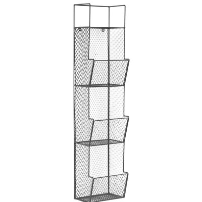 3 Bins Top Shelf Metal Wall Rack 6093