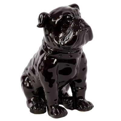 Sitting British Bulldog Figurine Color: Black 38442