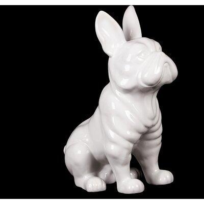 Sitting French Bulldog Figurine Color: White 38443