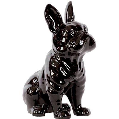 Sitting French Bulldog Figurine Color: Black 38444