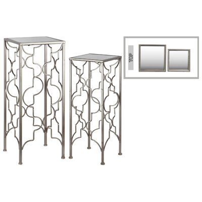 2 Piece Nesting Tables Color: Champagne