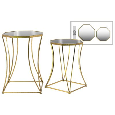 2 Piece Nesting Tables Finish: Gold