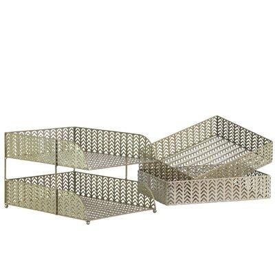 3 Piece Metal Rectangular Office Organizer Body Set