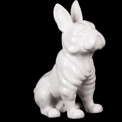 Sitting French Bulldog Figurine Color: White 38443