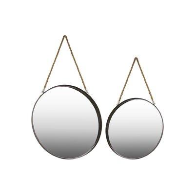 2 Piece Metal Round Accent Mirror Set LNTS3004 40832404