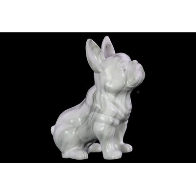 Ceramic Sitting French Bulldog Figurine IVBX1007 40832574