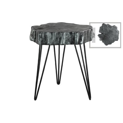 Orleans Metal End Table with 3 Hairpin Leg