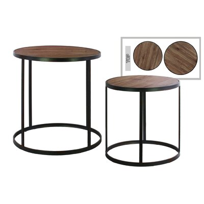 Burberry Round Metal 2 Nesting Tables