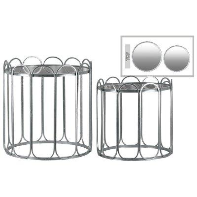 Vallo Round Metal 2 Nesting Tables