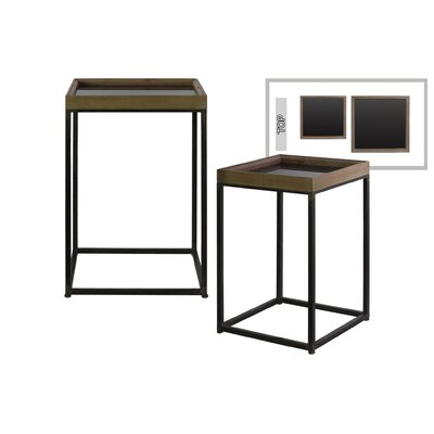 Shery Square Metal 2 Nesting Tables