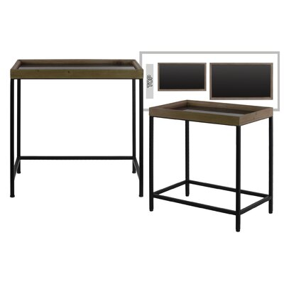 Gisella Rectangular Metal 2 Nesting Tables