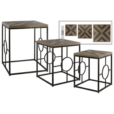 Burchette Square Metal 3 Nesting Tables