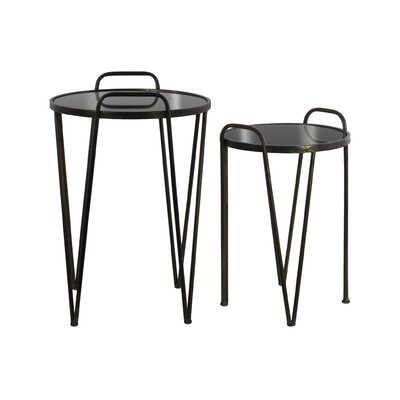 Shila Round Metal Hairpin 2 Nesting Tables