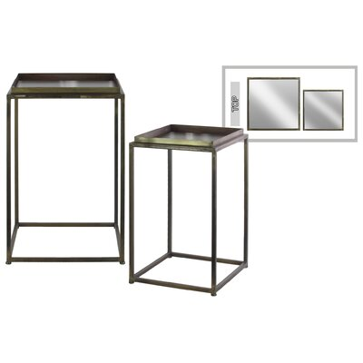 Gere Square Metal 2 Nesting Tables