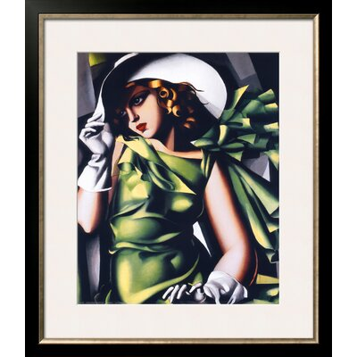 'Jeune Fille Vert' by Tamara de Lempicka Framed Graphic Art 9371981