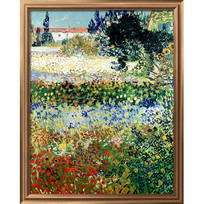 'Garden in Bloom, Arles, c.1888' by Vincent van Gogh Framed Painting Print 9318655