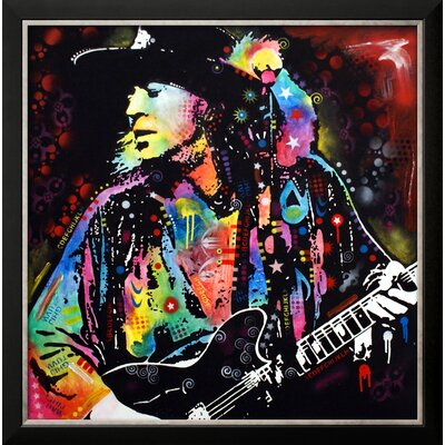 'Stevie Ray Vaughan' by Dean Russo Framed Graphic Art 14379076