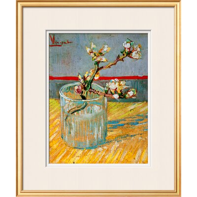 'Blossoming Almond Branch in a Glass, c.1888' by Vincent van Gogh Framed Painting Print 9795553
