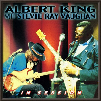 'Albert King with Stevie Ray Vaughan - In Session' Framed Graphic Art 14379073