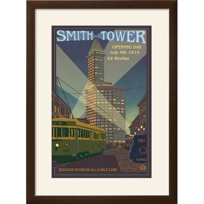 'Smith Tower, Seattle, Washington' Framed Vintage Advertisement Size: 29