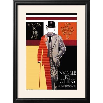 'Vision is the Art' Framed Graphic Art Print 49A907094DAE4E179977CB0733A41016