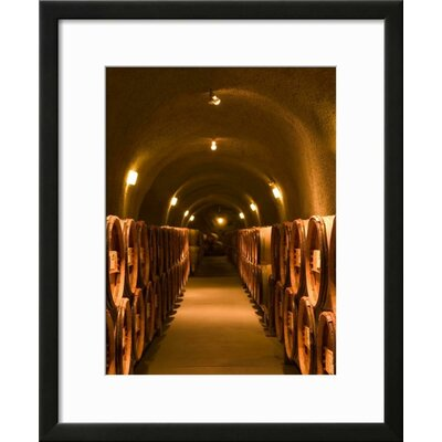 """'Pine Ridge Winery Cask Room, Yountville, Napa Valley, California' Framed Photographic Print Frame: Black Framed, Size: 23"""" H x 19"""" W 15145120"""