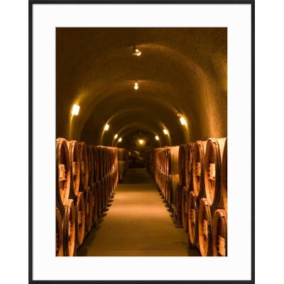 """'Pine Ridge Winery Cask Room, Yountville, Napa Valley, California' Framed Photographic Print Frame: Black Framed, Size: 29"""" H x 23"""" W 15145124"""