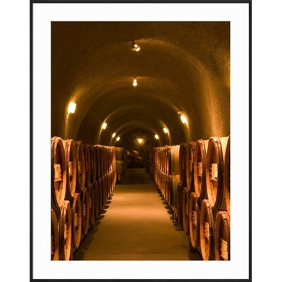 """'Pine Ridge Winery Cask Room, Yountville, Napa Valley, California' Framed Photographic Print Frame: Black Framed, Size: 37"""" H x 29"""" W 15145125"""
